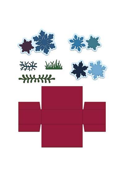 Gift Box and Mini Snowflakes Die