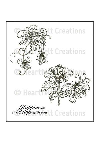 Single Enchanted Mum Cling Stamp Set