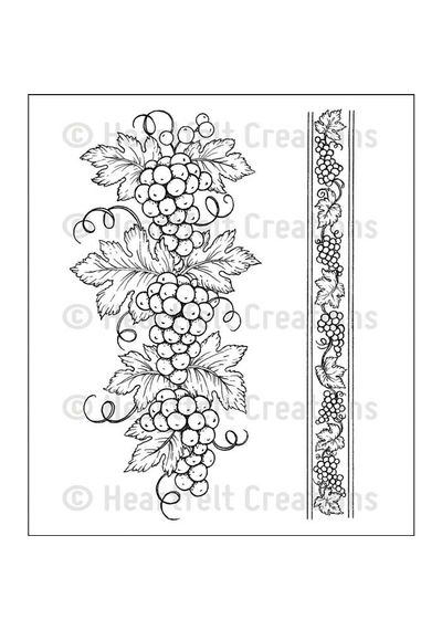 Italian Grape Borders - Stamp