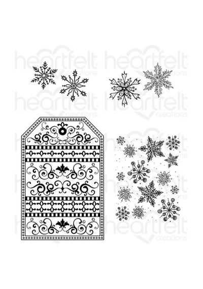 Snow Kissed Flakes & Tag - Stamp