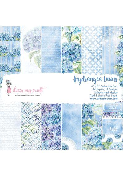"""Hydrangea Lawns - 6""""X6"""" Paper Pad"""