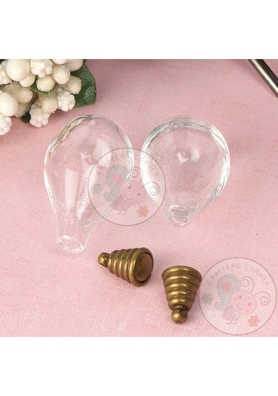 Glass Blub with Bronze Cap