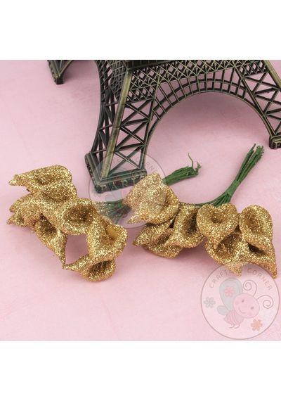 Calla Lily - Glitter Golden