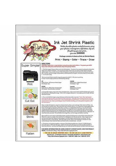 Stampers Anonymous Darcie's Ink Jet Shrink Plastic