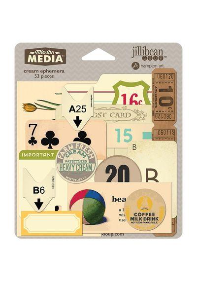 Cream - Mix The Media Ephemera Pack