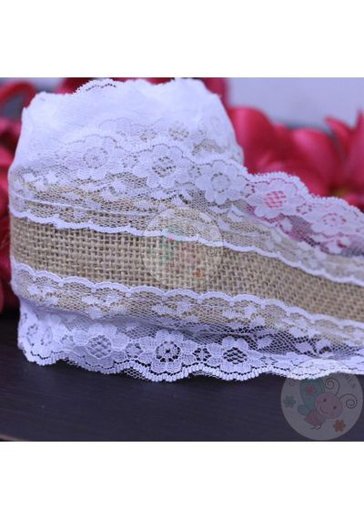 Jute Lace with Broad Border