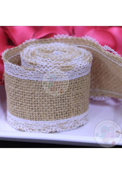Jute Ribbon with Border Lace 2