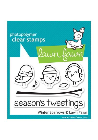 Winter Sparrows - Stamp