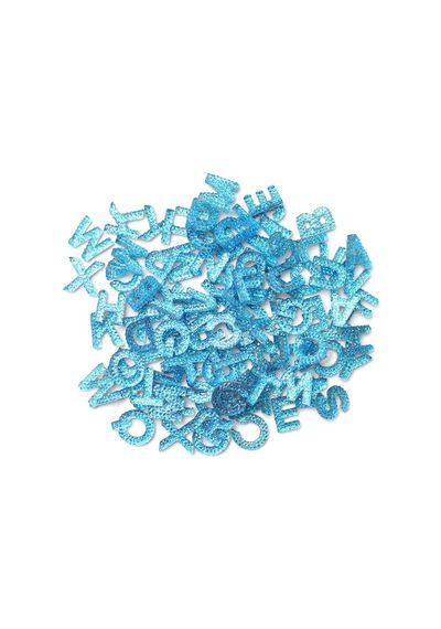 "Blue  - Alphabits Glitter Alphabet .5"""