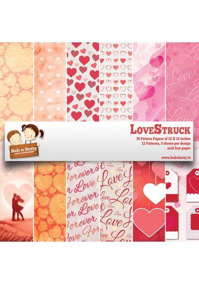 "Love Struck  - 12""X12"" Paper Pack"