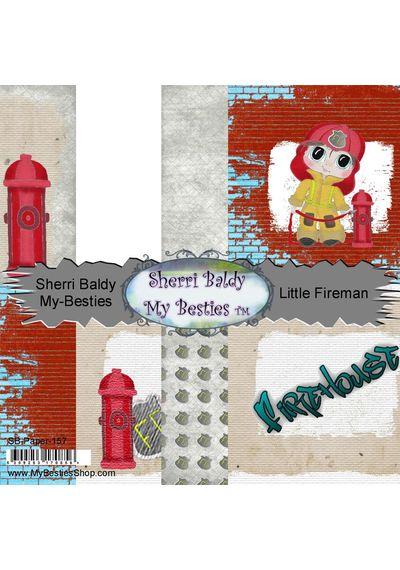 """Little Fireman Single-Sided Paper 6""""X6"""" 8/Pkg"""