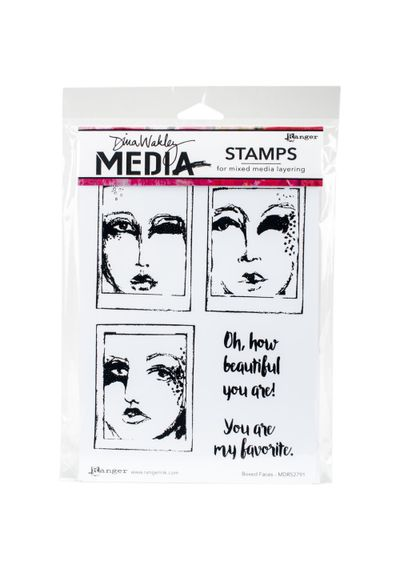 Boxed Faces Stamp