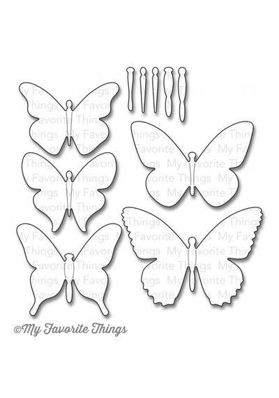 Flutter of Butterflies - Solid - Die