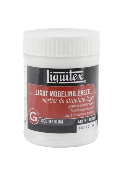 Liquitex Light Modeling Paste Acrylic Gel Medium - 8 Ounces
