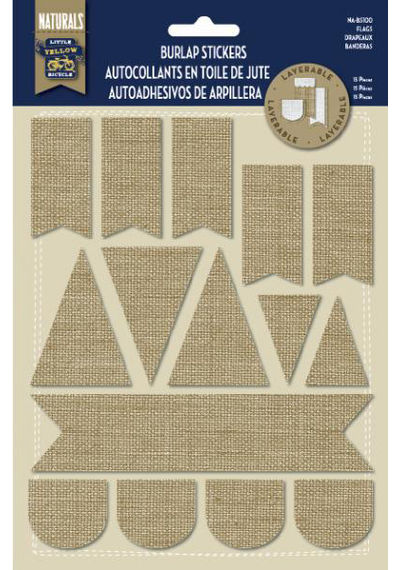 Burlap Stickers - Flags