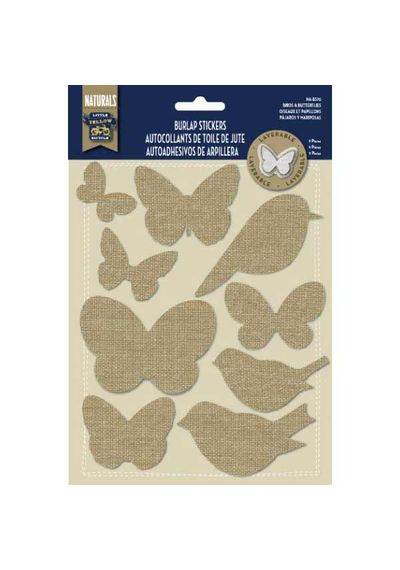 Birds and Butterflies - Burlap Stickers