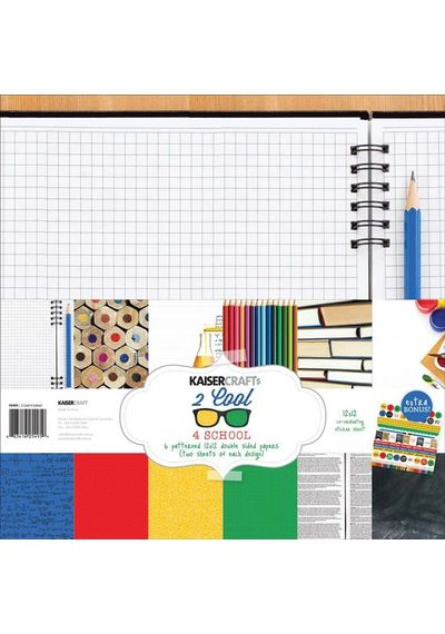 "2 Cool 4 School - 12""x12"" Paper Pack"