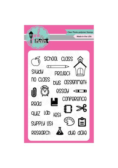 Planning School-Pink & Main Clear Stamps