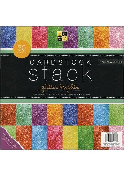 """Glitter - Cardstock Stack 12""""X12"""""""