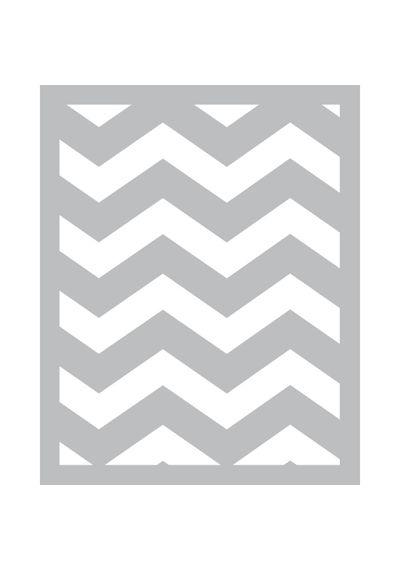 Chevron -Foam Front Card Kit