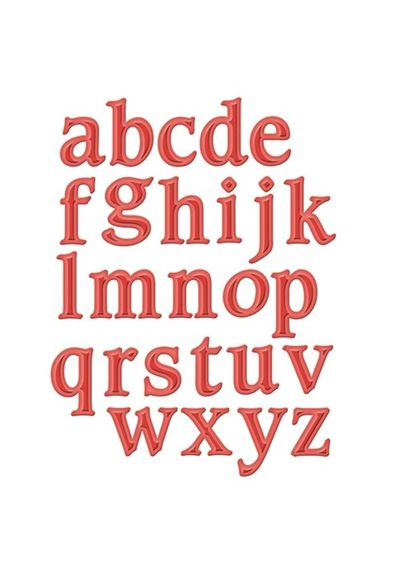 Font One - Lowercase