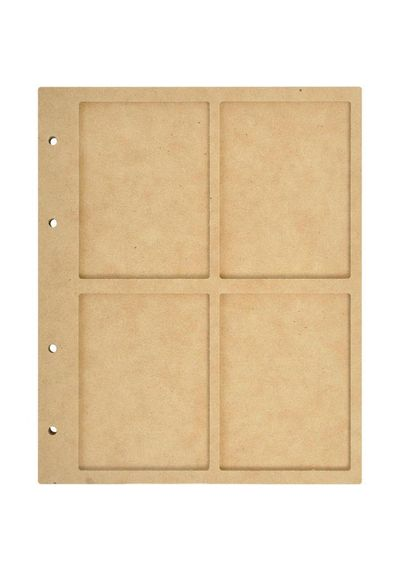 Beyond The Page MDF 4 Window Display Album W/10 Pockets