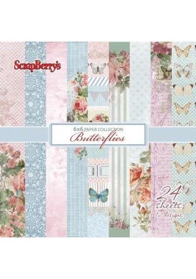 """Butterflies 6"""" X 6"""" Paper Set"""