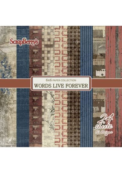 """Words Live Forever 6""""x6"""" Paper"""