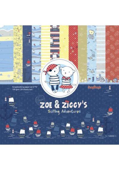 """Zoe & Ziggy's Sailing Adventures 6""""x6"""" Paper"""