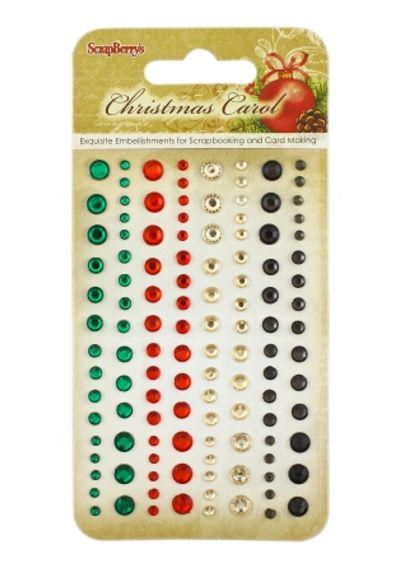 Christmas Carol - Adhesive gems