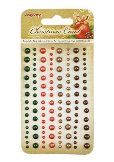 Christmas Carol - Adhesive pearls