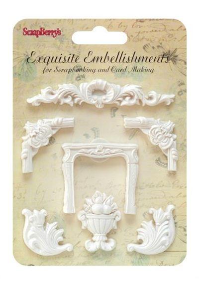 5 Ornately Shaped Decorations