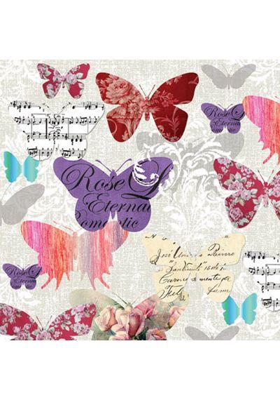 ROMANTIC BUTTERFLIES - Napkin