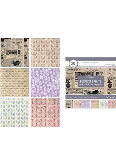 "Vintage 4 - Perfect Prints Stacks 6""x6"""