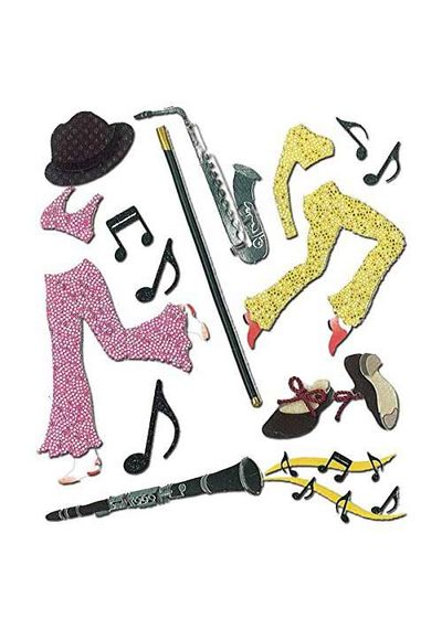 Tap and Jazz Dimensional Stickers