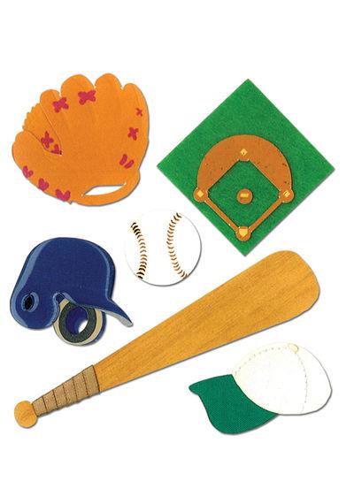 Kids Softball 3D Stickers