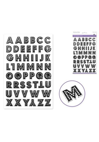 Caps Font Silver Sticker