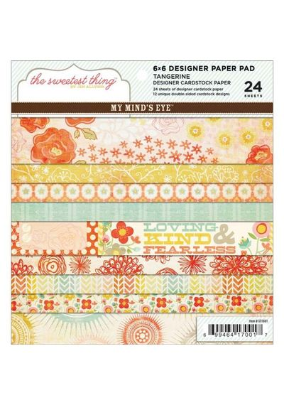 The Sweetest Thing Tangerine Paper Pad 6