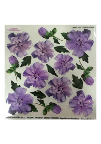 Purple Flower - Printed Plastic sheet