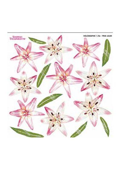 Pink Lilium - Printed Holographic Film