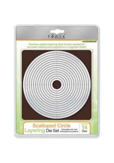 SCALLOPED CIRCLE LAYERING DIE SET