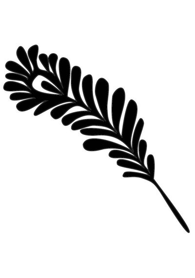 Single Feather - Stencils