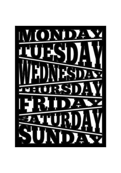 Days Of Week - Stencils