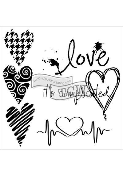 Complicated Hearts -  Stencils
