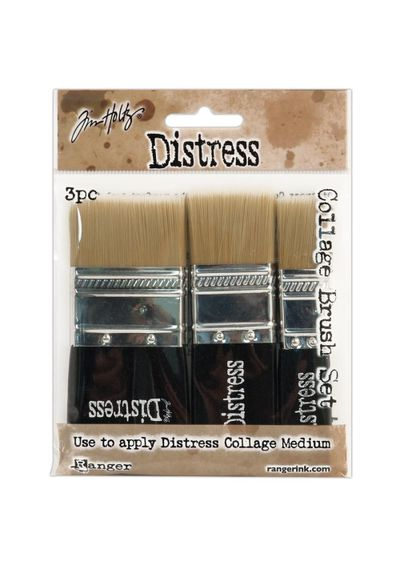 """Distress Collage Brush Assortment - 1 Each Of 3/4"""", 1-1/4"""" & 1-3/4"""""""