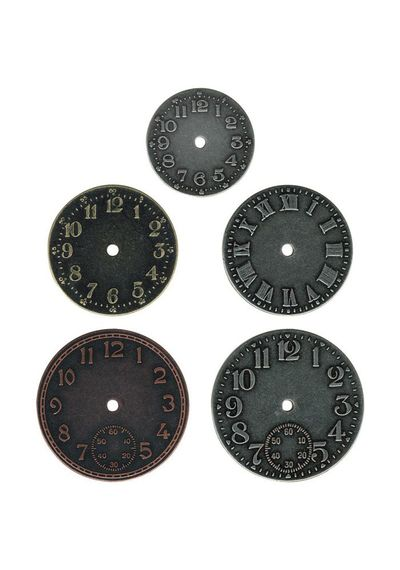 "Idea-Ology Timepieces Clock Faces 1.25"" To 1.75"" 5/Pkg"