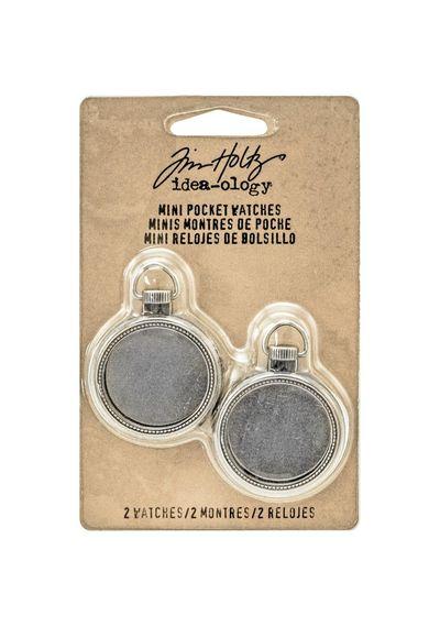 Mini Pocket Watch Frames - Antique Nickel