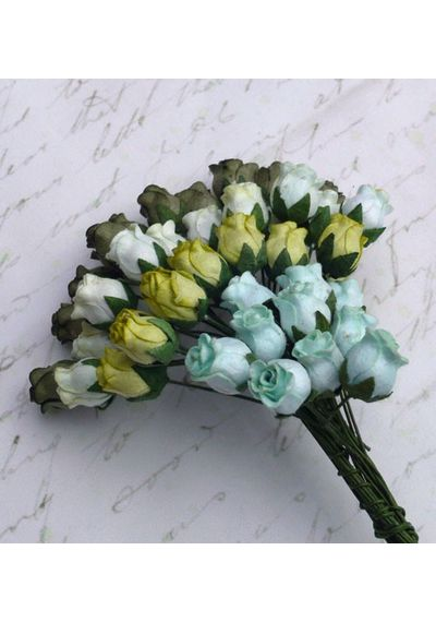 Green Tone - Twisted Rose Buds Combo