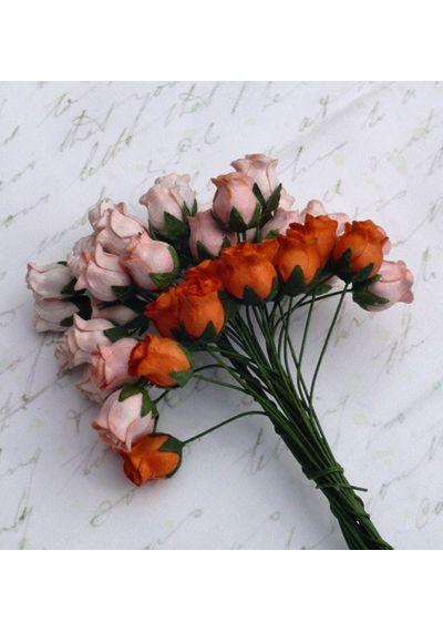 Peach Orange Tone - Twisted Rose Buds Combo