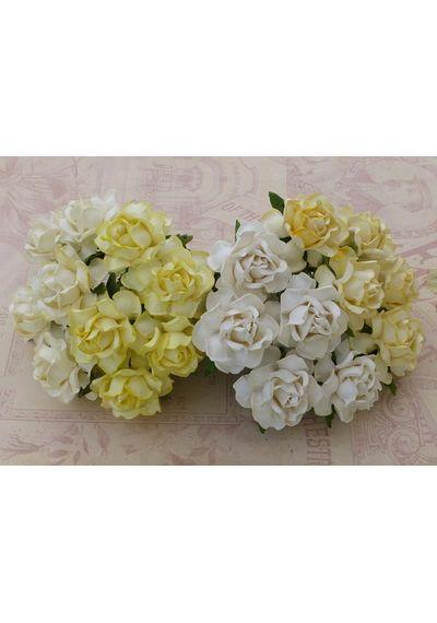 White/Cream Tone - Twisted Roses Combo